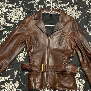 Brown Italian Tuscan Leather Jacket